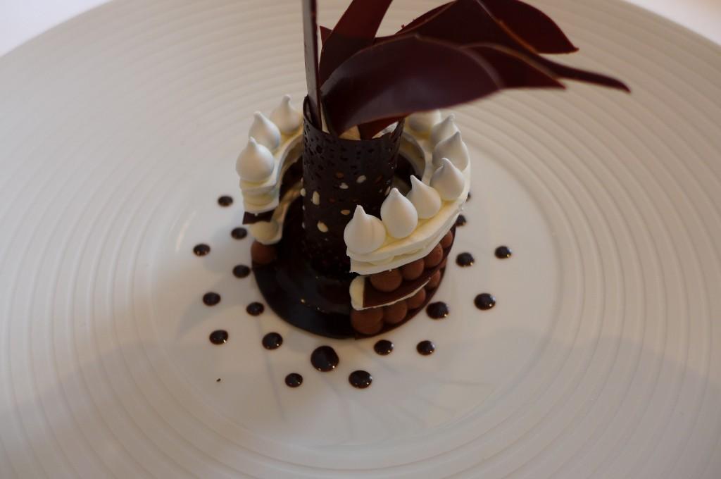 Vacherin glacé vanille, chocolat © GP