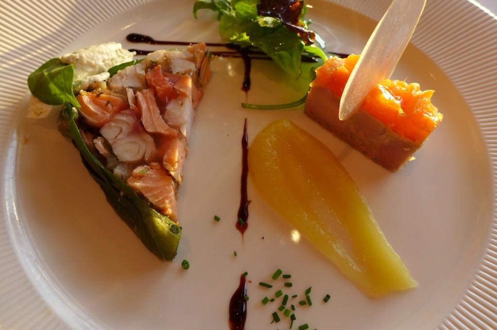 Terrine de poisson, barre de foie gras © GP