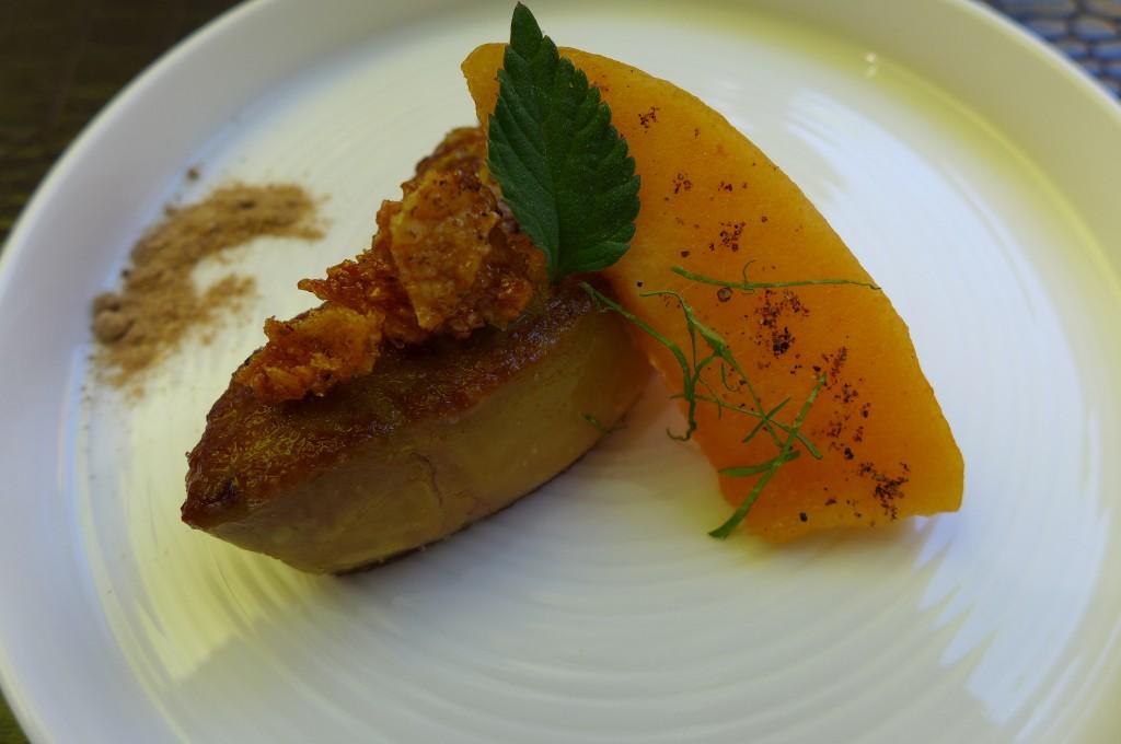 Foie gras chaud au melon © GP