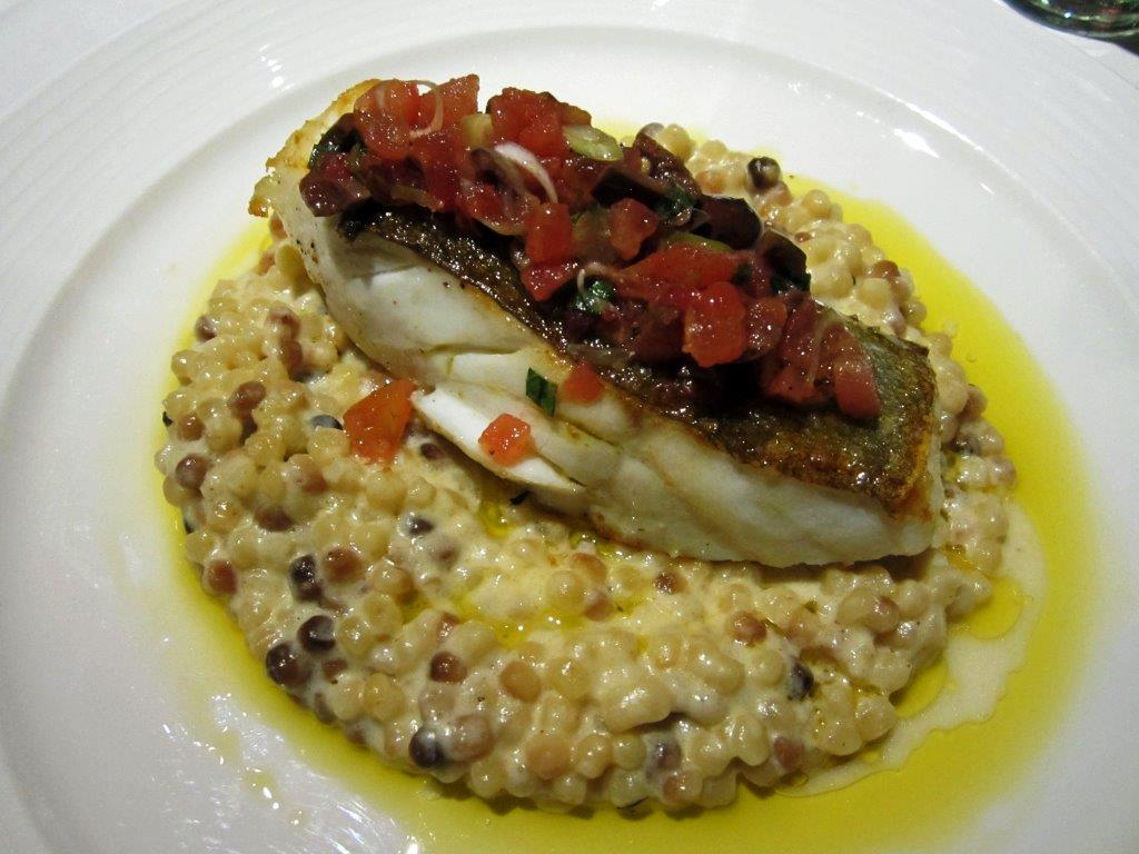 Cabillaud et risotto © AA