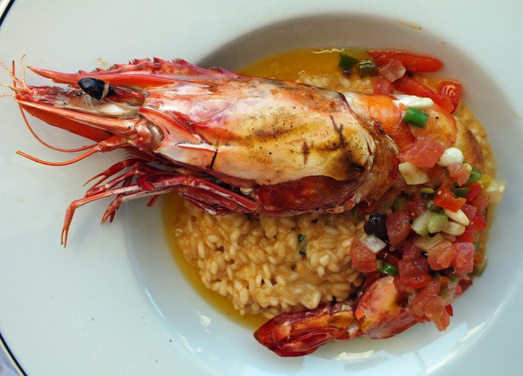 Gambas royale et risotto © AA