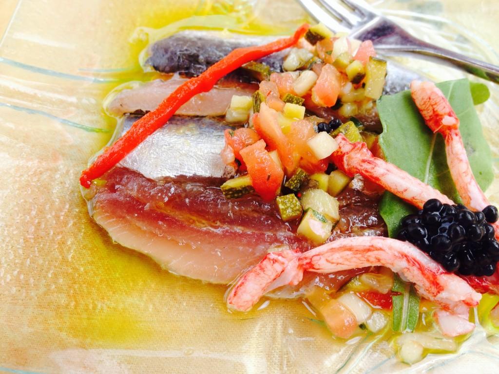 Salade de sardines grillées © GP