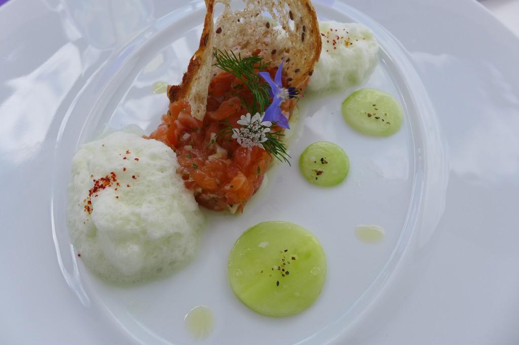 Tartare de saumon au concombre © GP