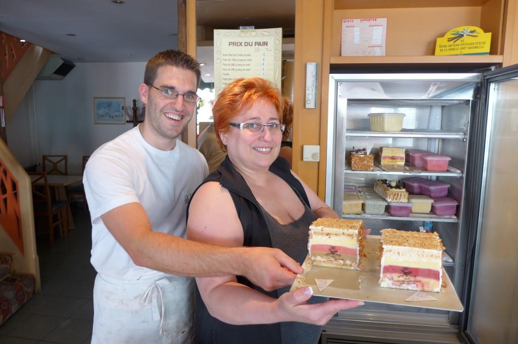 Riegert mère et fils, avec le vacherin glacé © GP