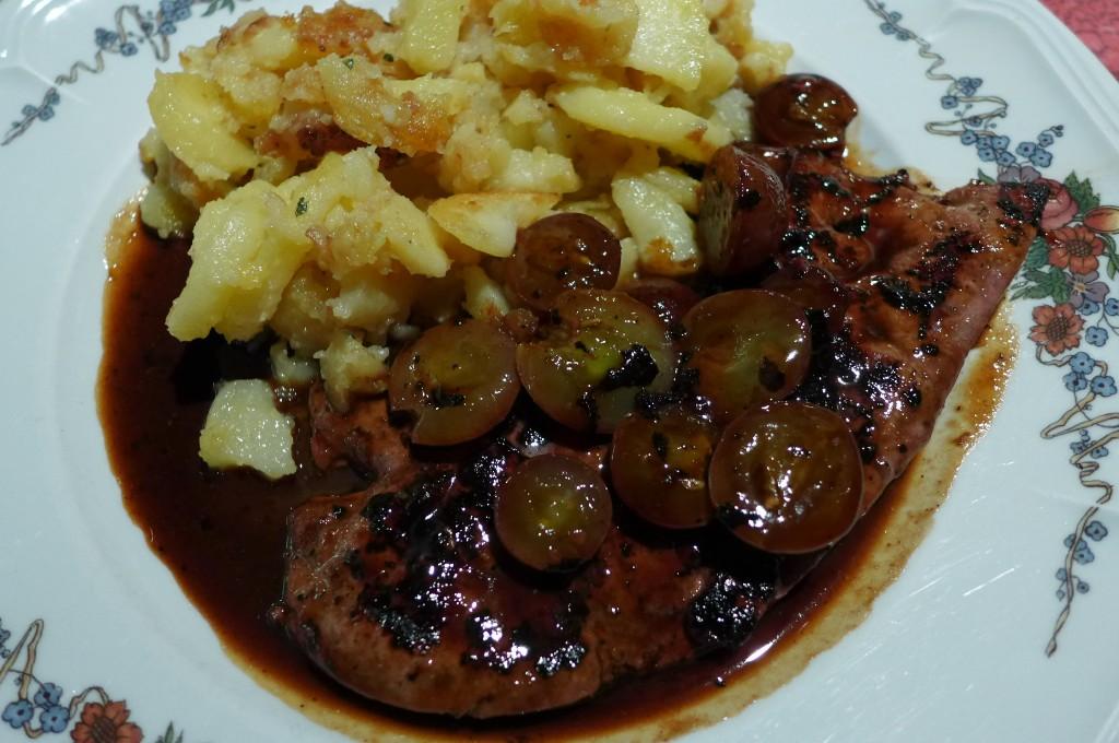 Foie de veau aux raisins © GP