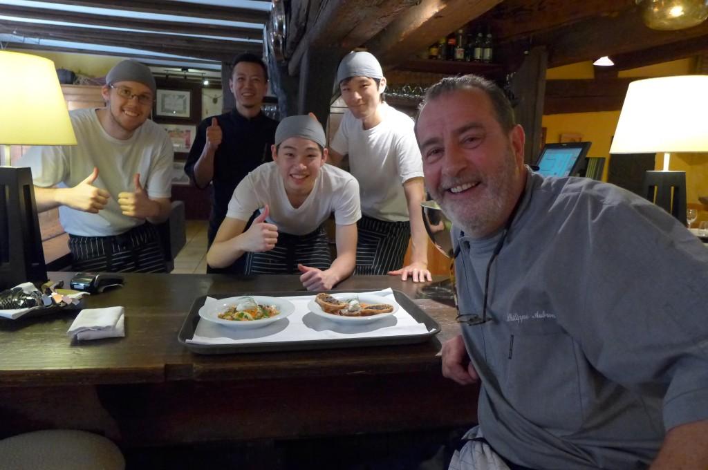 Philippe et son équipe © GP
