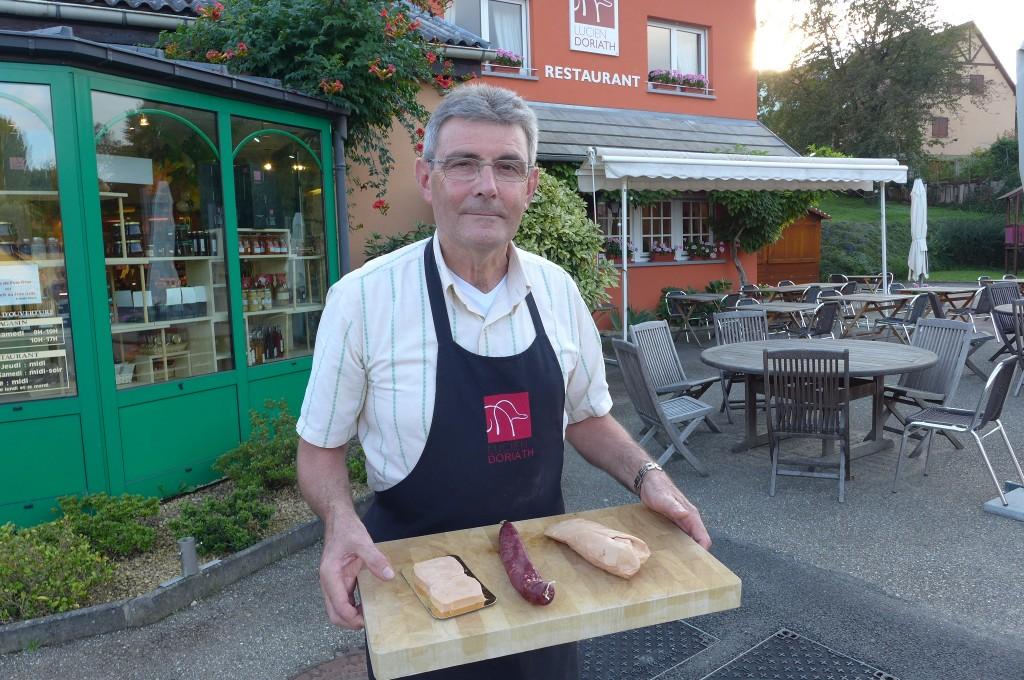 Lucien Doriath et ses foies gras © GP