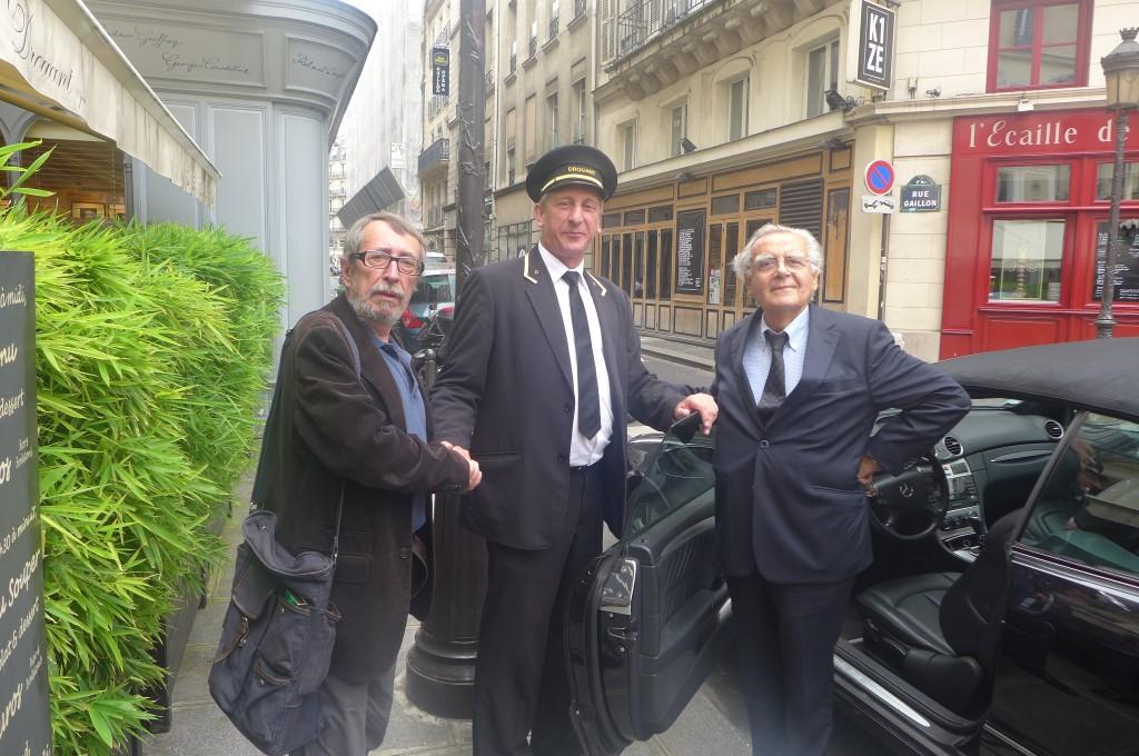 Patrick Rambaud, Bernard Pivot et le voiturier © GP