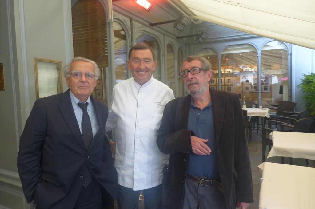 Bernard Pivot, Antoine Westermann et Patrick Rambaud © GP