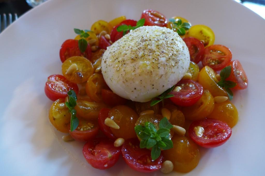 Tomates et burrata © GP
