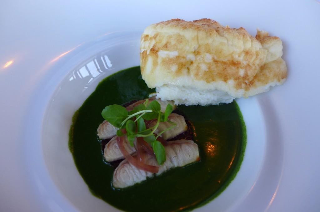 Soufflé d'anguille et cresson © GP
