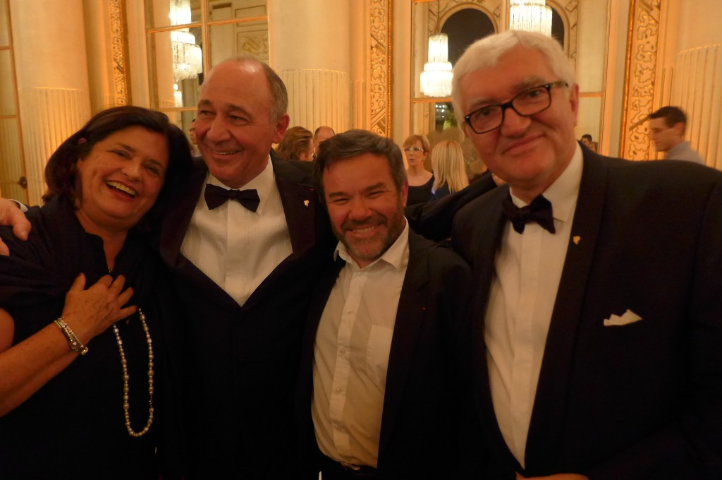 Françoise Bocuse-Bernachon, Marc Haeberlin, Michel Troisgros, Antonio Santini © GP