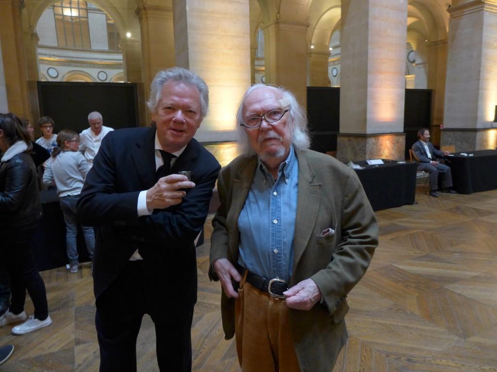 Avec Alain Rey des dictionnaires Robert © GP