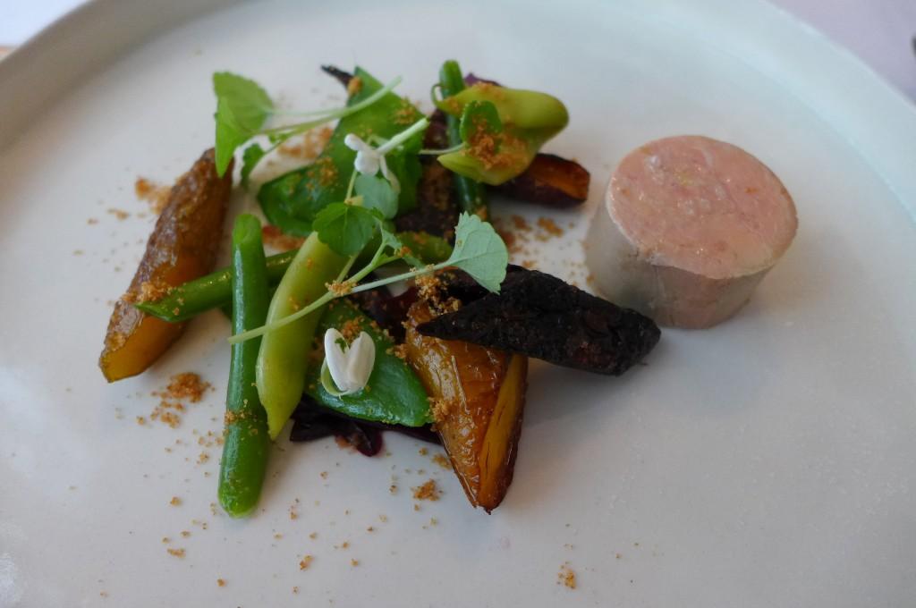 Foie gras et jeunes carottes © GP