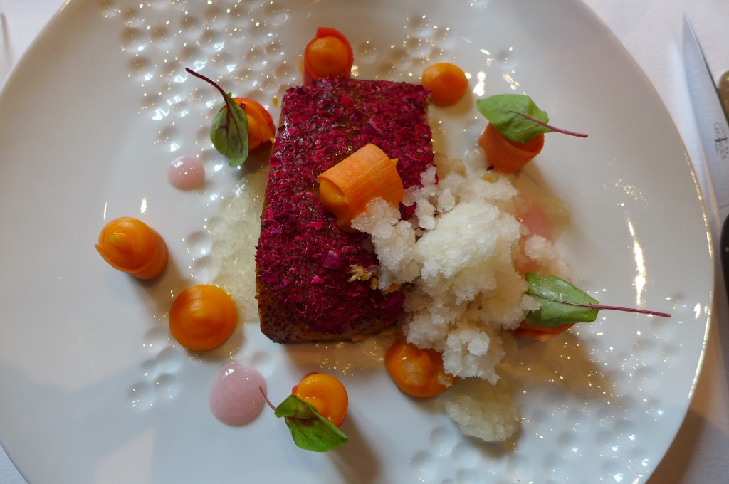 Foie gras pané à la rose © GP