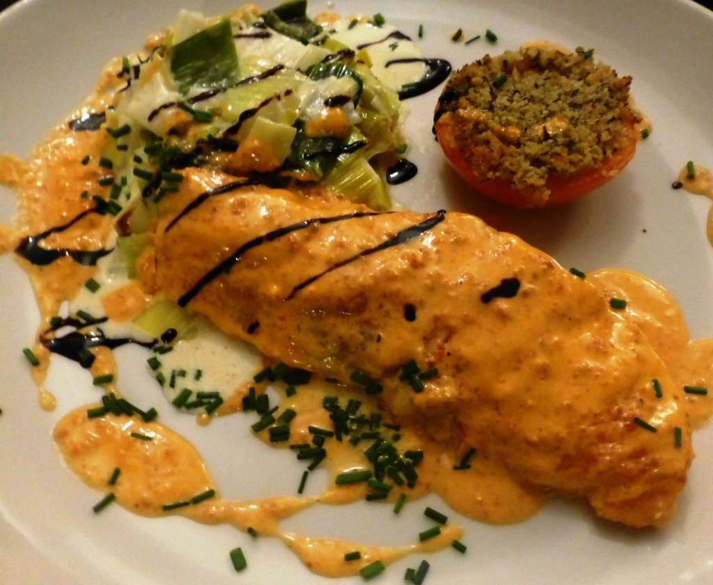 Saumon au chorizo © SK