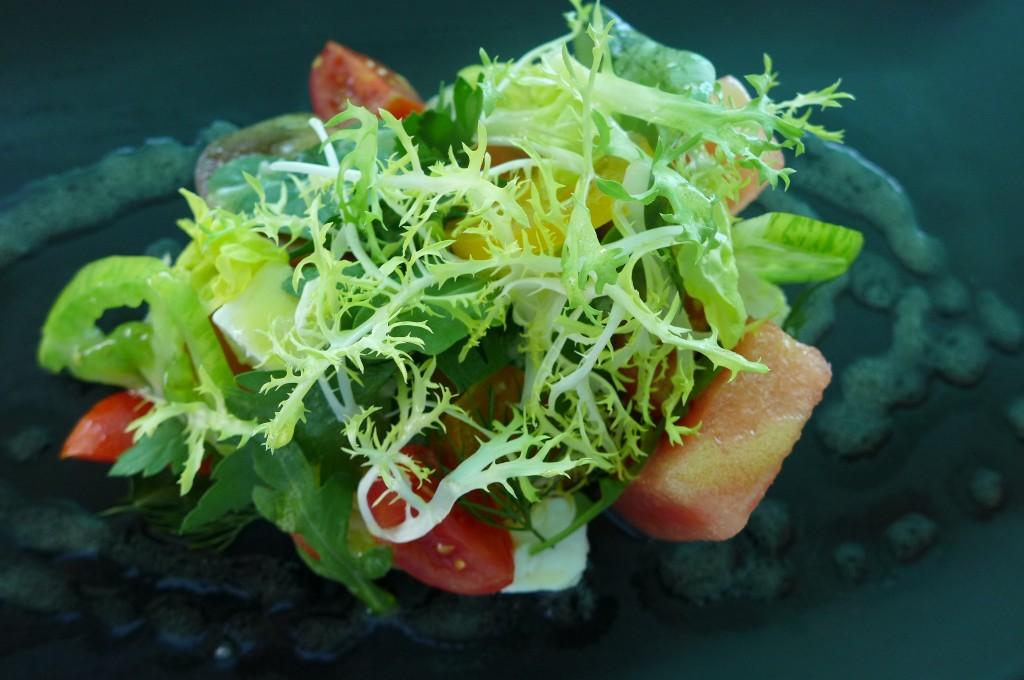 Salade tomate, pastèque © GP