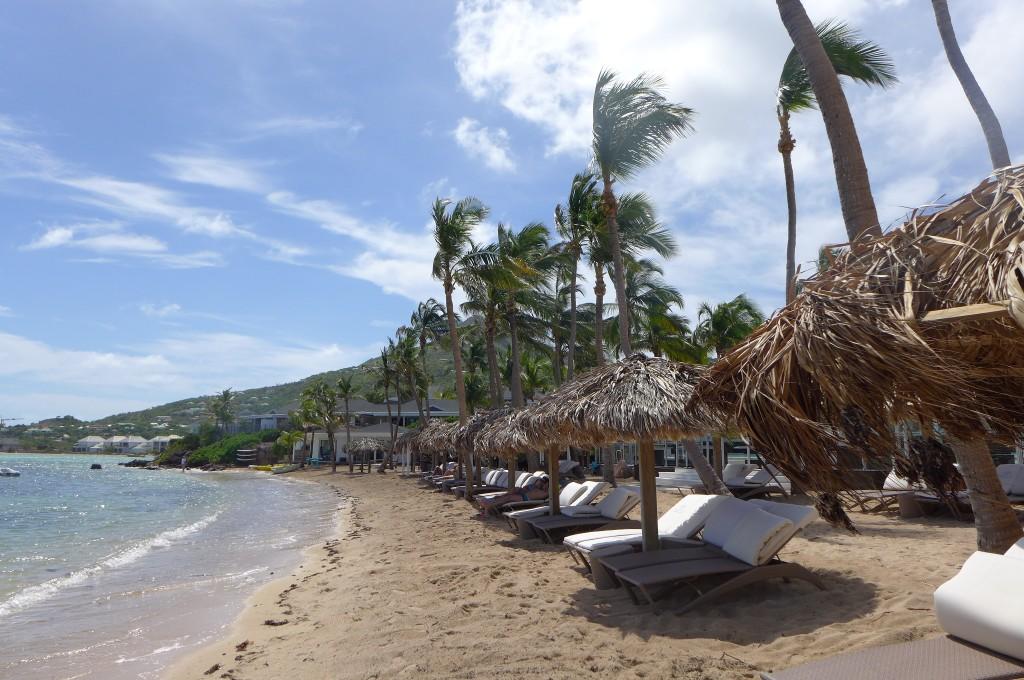 La plage du Guanahani © GP