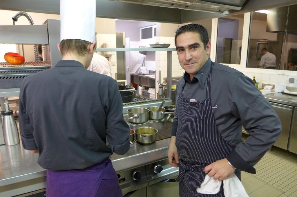 Julien Marseault en cuisine © GP
