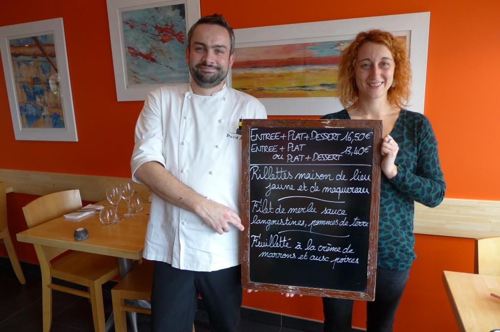David Autret et Aurélie Morizur