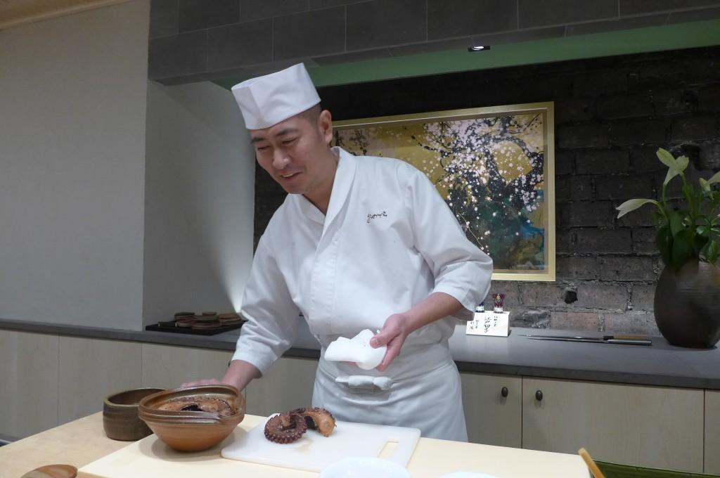 Takeshi Morooka et le poulpe © GP