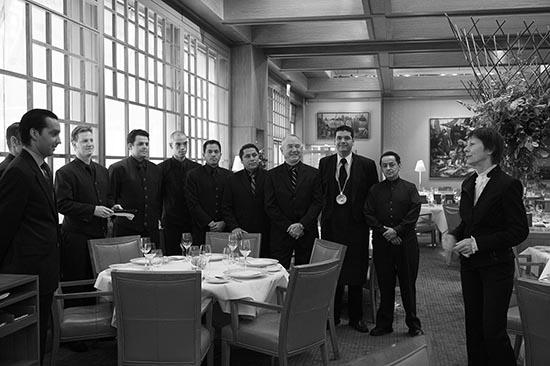 Maguy Le Coze et l'équipe de salle © Maurice Rougemont