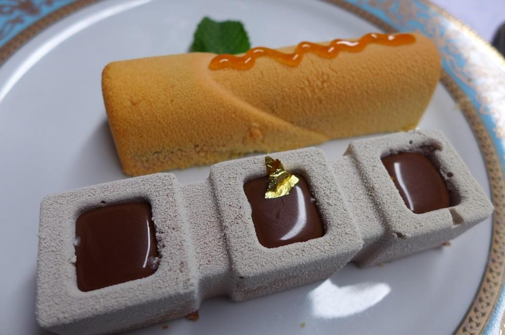 Parfait passion et trilogie de chocolat © GP