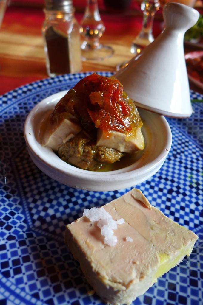 Tagine makfoul au foie gras © GP