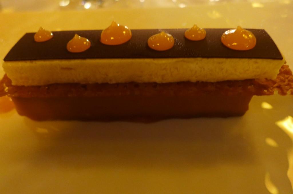Finger chocolat au lait et parfait glacé à la belle Sandrine ©GP