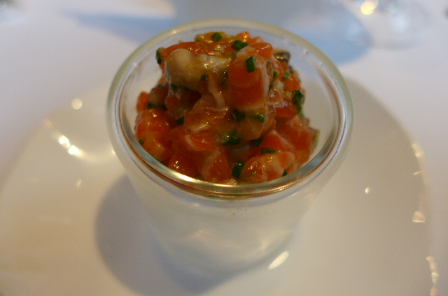 Tartare de truite et huître © GP