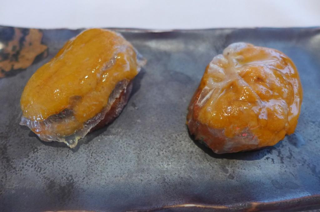 Toast d'oursin au lard de Colonnata © GP