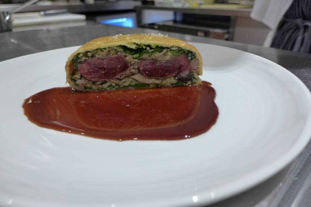 Tourte de palombe aqu foie gras © GP