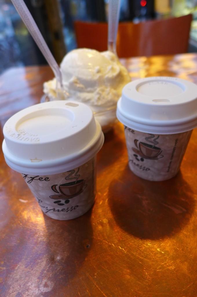 Glace et café © GP
