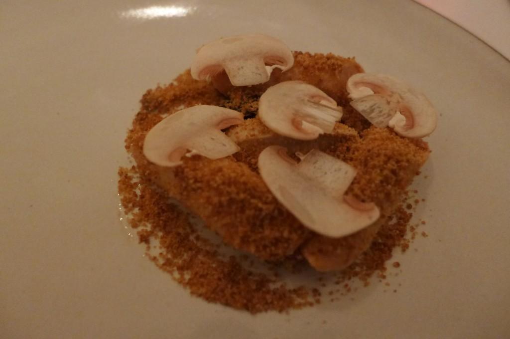 Foie gras pané aux champignons © GP