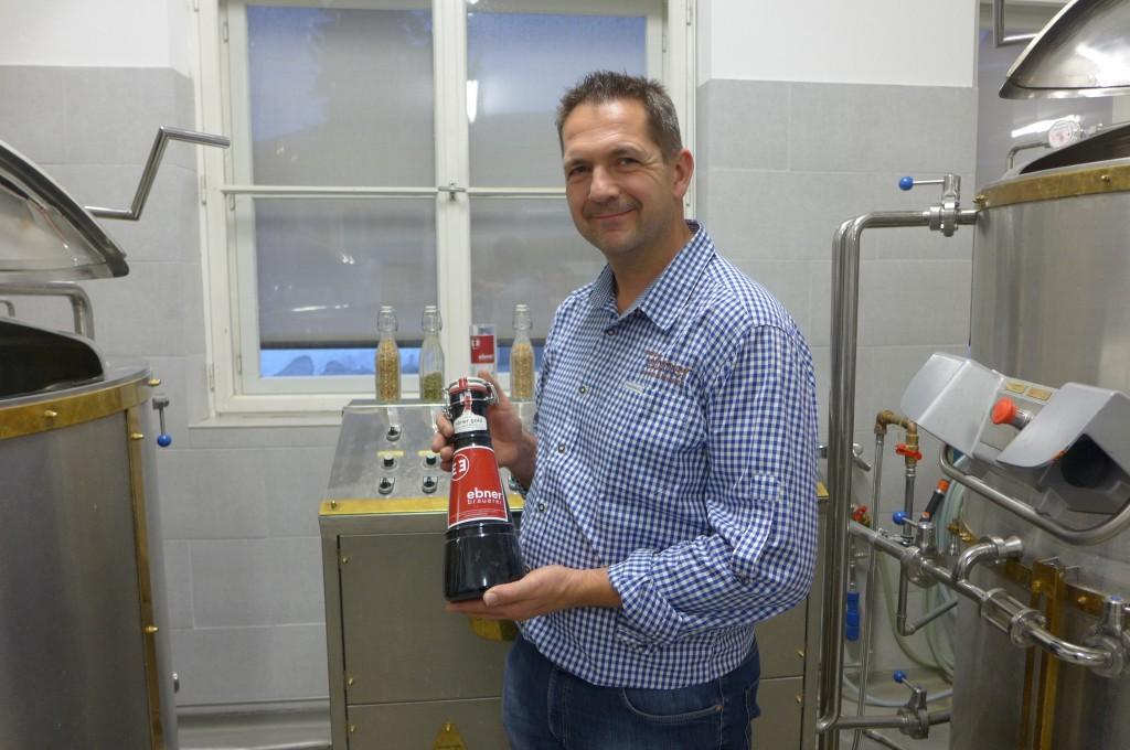 Arno Pauli et sa bière © GP