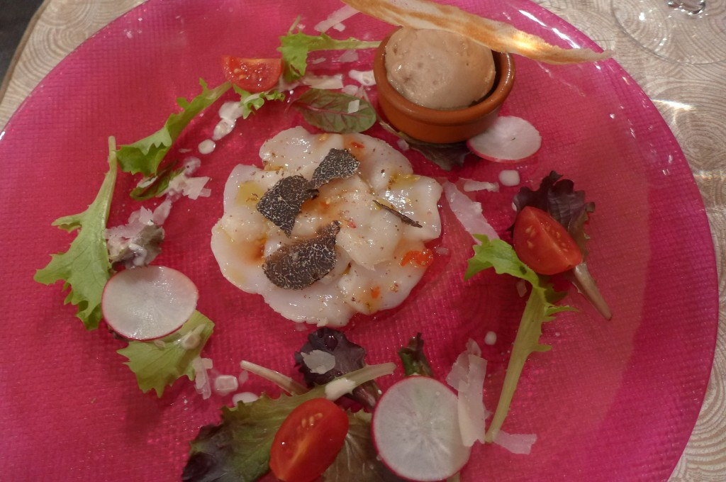 Carpaccio de St Jacques © GP