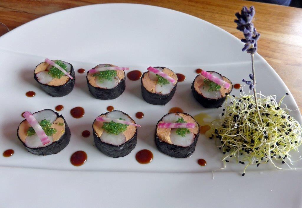 Foie gras et gambas facon maki ©AA