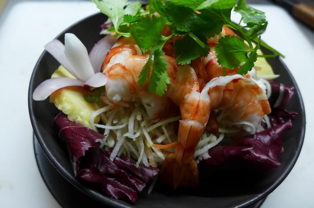 Salade de papaye aux crevettes © GP