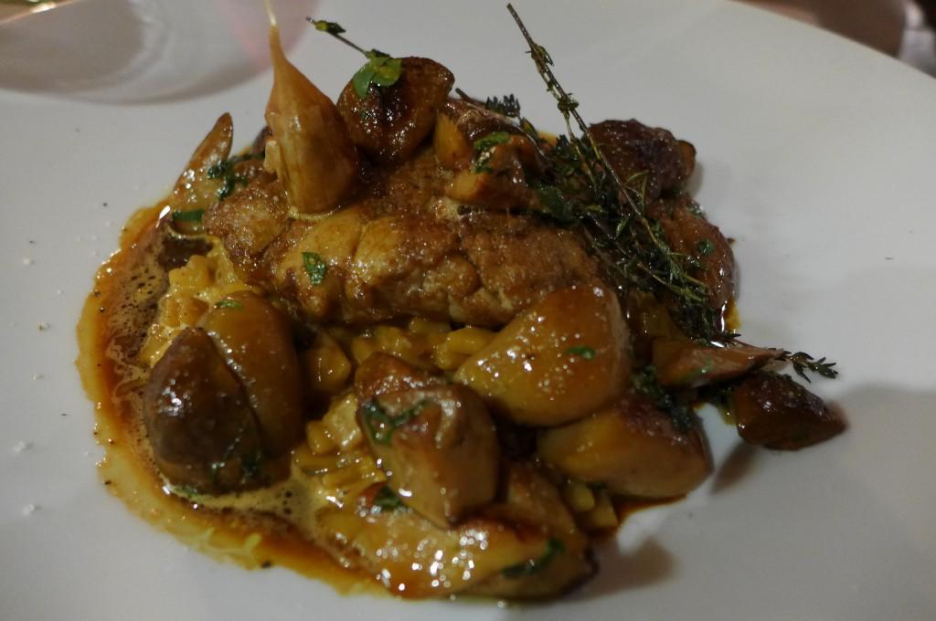 Ris de veau et risotto de  crozets © GP