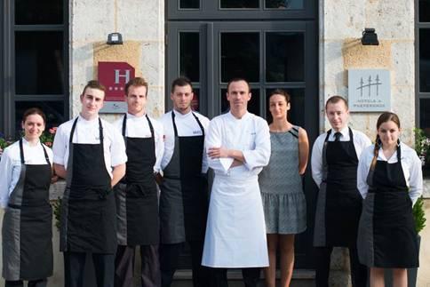 Christophe Hay et son équipe à Montlivault ©DR