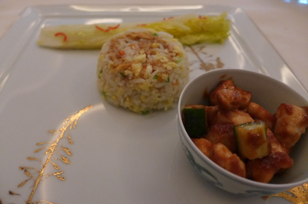 Poulet  et riz sauté © GP