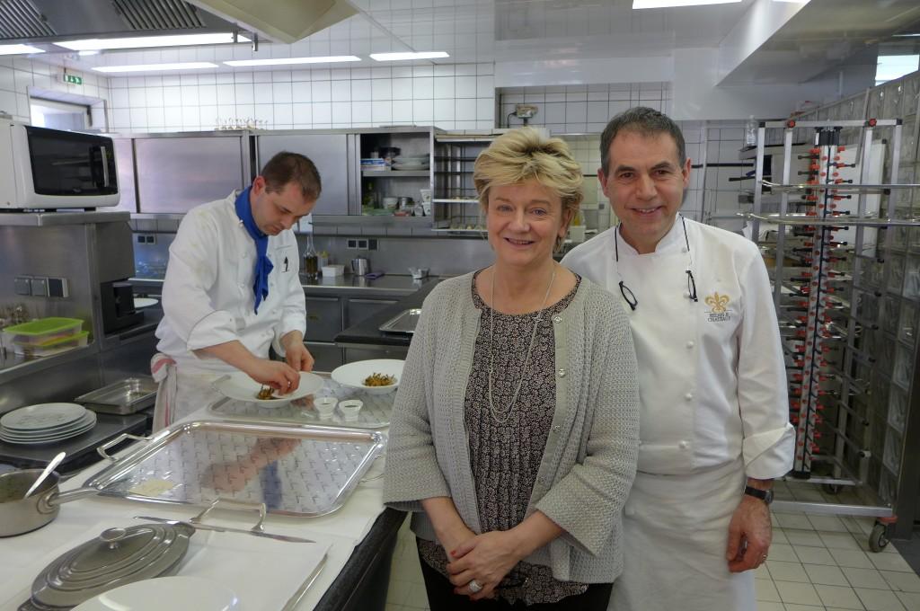 Cathy Klein et Philippe Labbé en cuisine © GP
