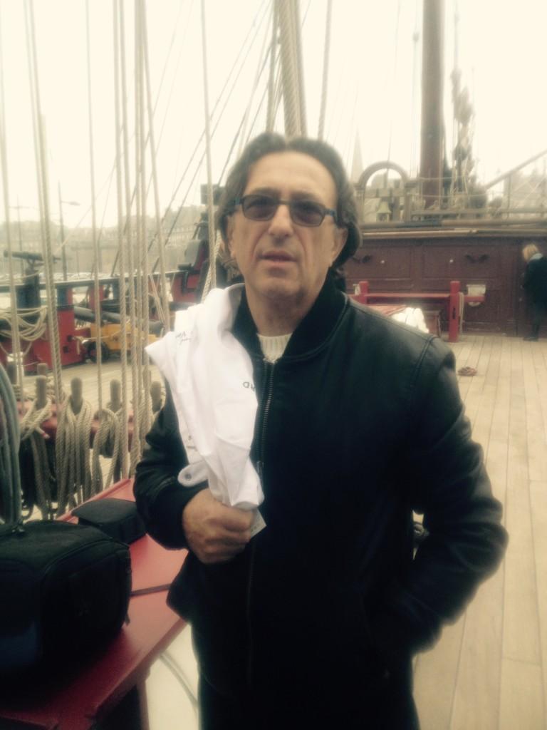 Patrick Jeffroy sur le bateau © SD