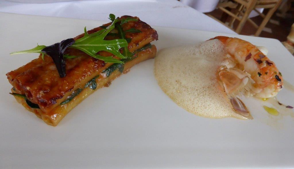 Grosses langoustines, gratin de Zita © AA