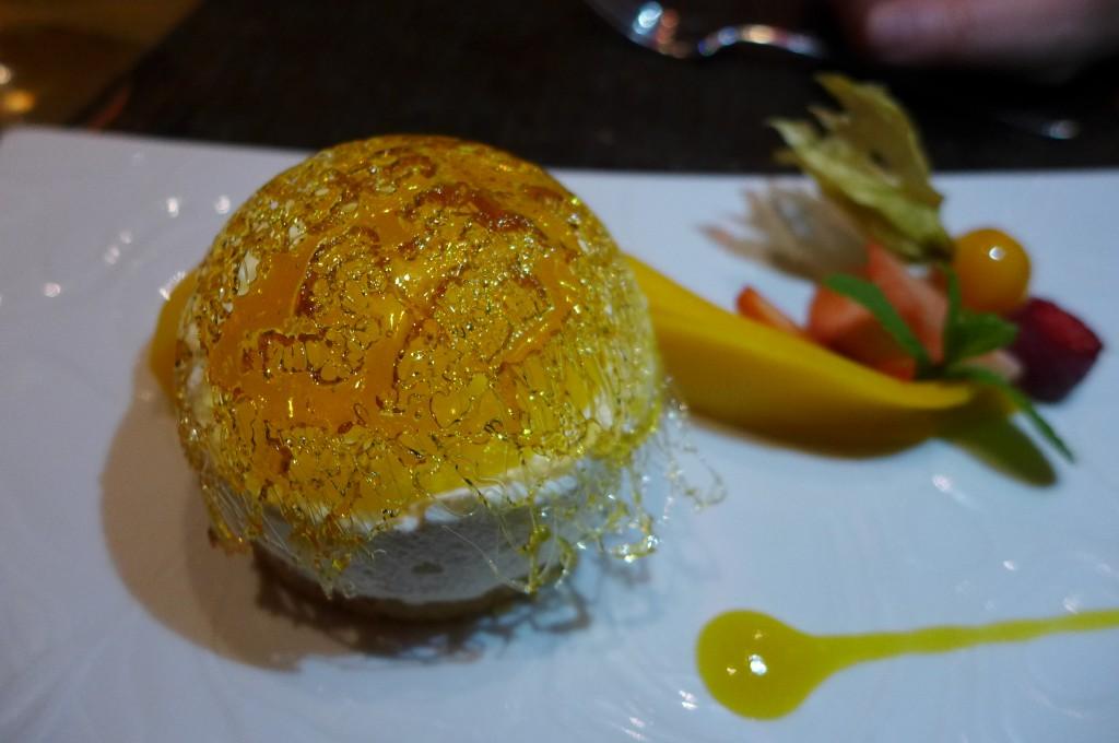 Cheese-cake mangue, citron vert © GP