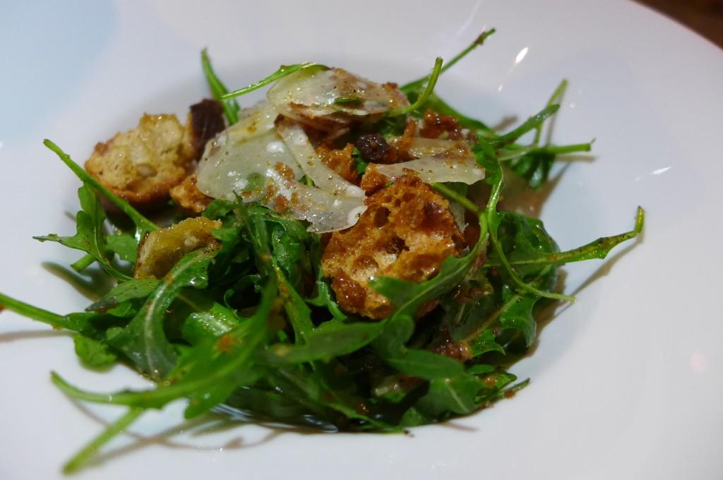 Salade de riquette au parmesan © GP