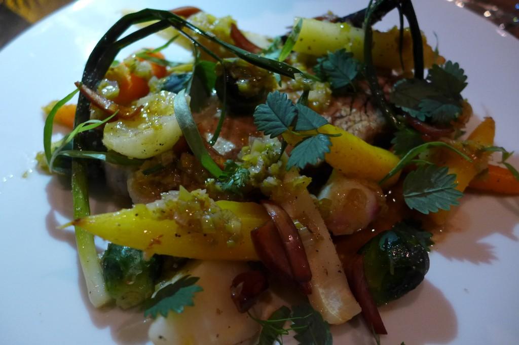 Poitrine de veau et ses légumes © GP
