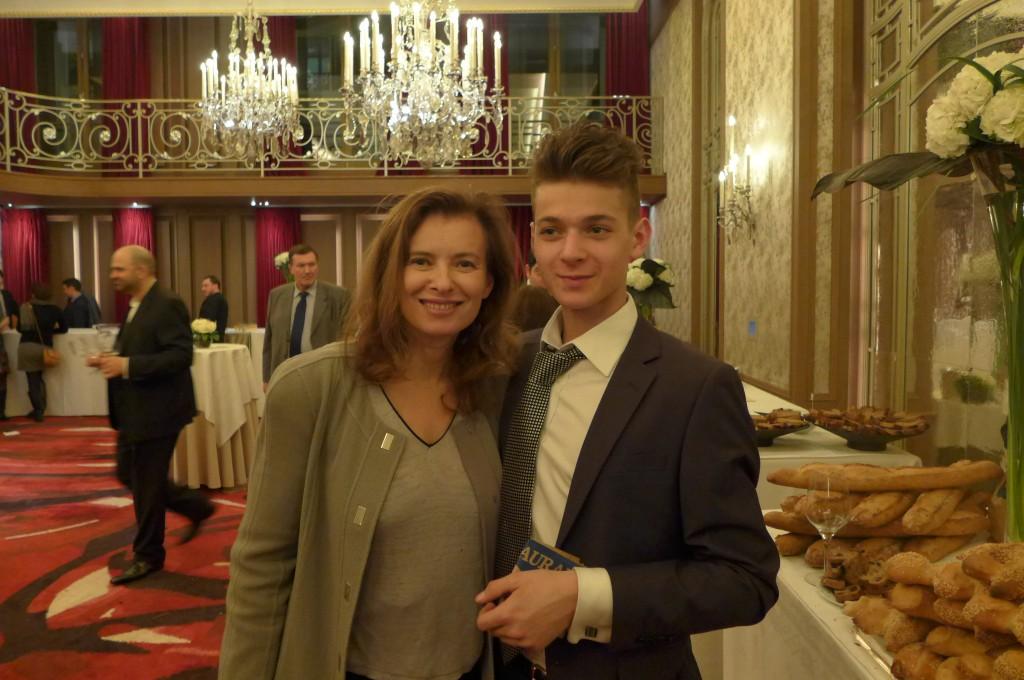Valérie Trierweiler et son fils Léonard © GP
