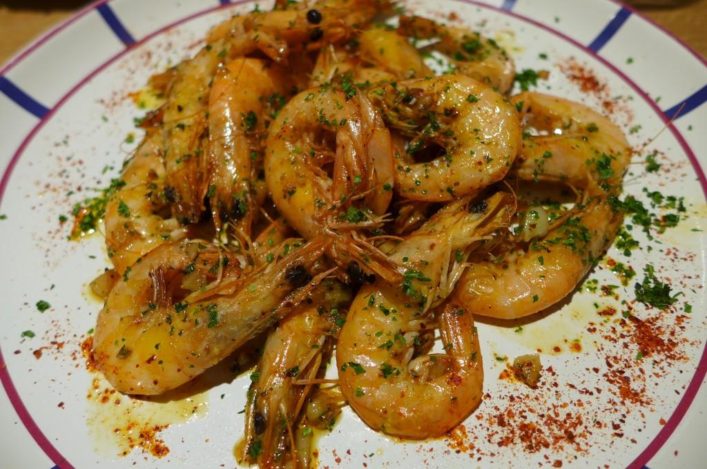 Crevettes sautées à l'ail © GP