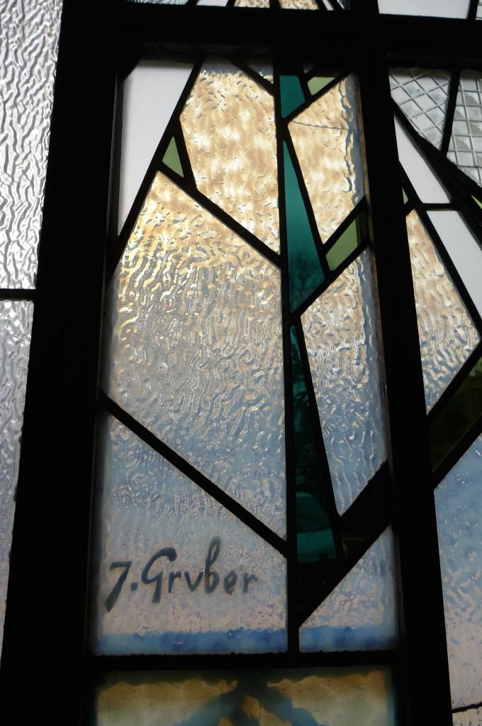 Détail du vitrail de Gruber © GP